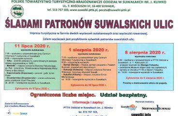 plakat Śladami patronów Suwalskich ulic
