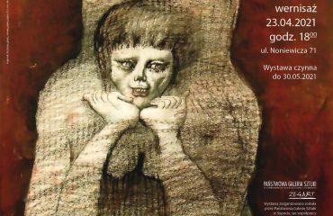 plakat wystawy Jan Lebenstein 1930-1999